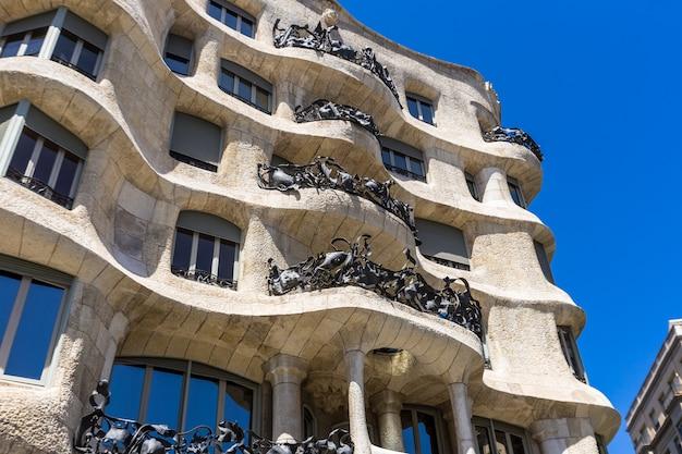 Casa mila à barcelone en espagne