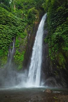 Cascade d'air terjun munduk. l'île de bali, indonésie.