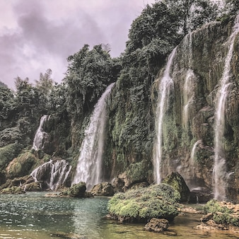 Cascade de ban gioc à cao bang, vietnam