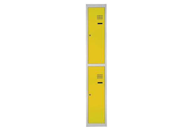 Casiers jaunes pour vestiaire. vestiaire boite métal gris