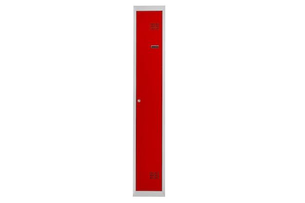 Casiers rouges pour vestiaire. vestiaire boite métal gris