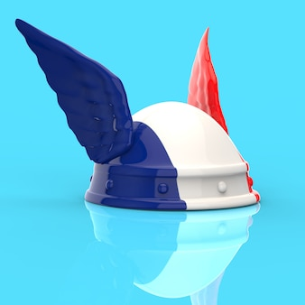 Casque gaulois - illustration 3d