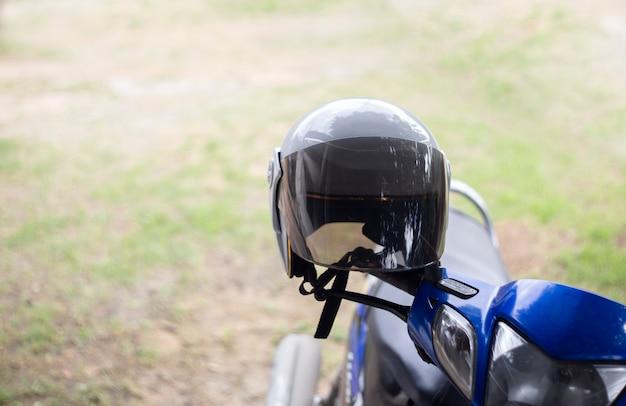 Casque de moto avec espace de copie.