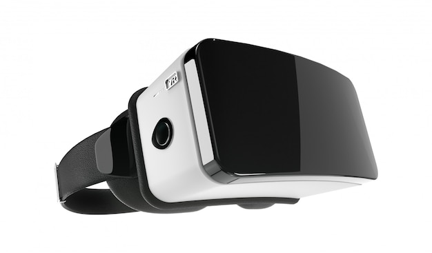 Casque de réalité virtuelle vr noir et blanc