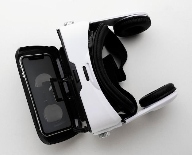 Casque de réalité virtuelle vue de dessus