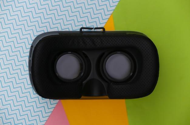 Casque de rv. réalité virtuelle. mise à plat