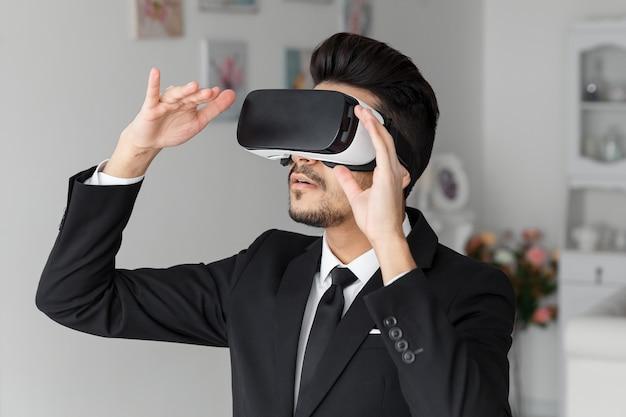 Casque de technologie de vision 3d, simulation virtuelle