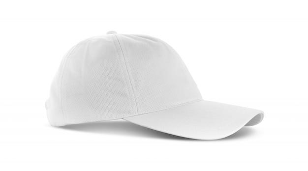 Casquette en toile blanche isolée sur fond blanc