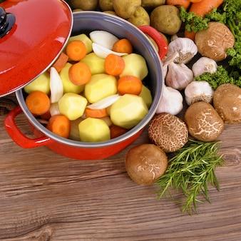 Casserole aux légumes bio