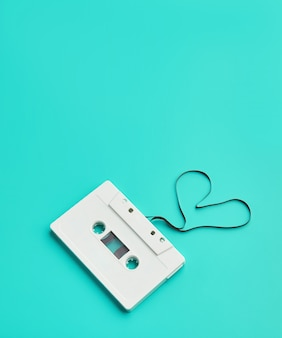 Cassette audio, cœur en forme de film
