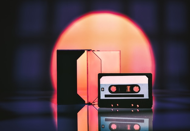 Cassette audio sur un résumé.