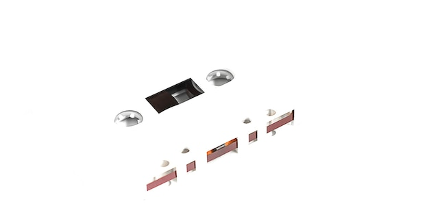 Cassette Blanche Sur Fond Blanc Photo Premium