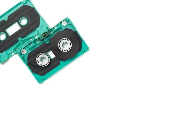 Cassette cassette split fond blanc isolé