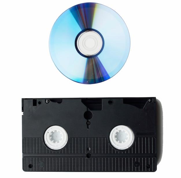 Cassette vidéo et cd rom