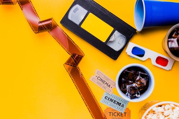Cassette vidéo avec celluloïd