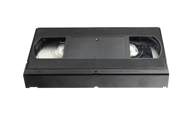 Cassette vidéo pour regarder des films isolés sur fond blanc, cassette vidéo.