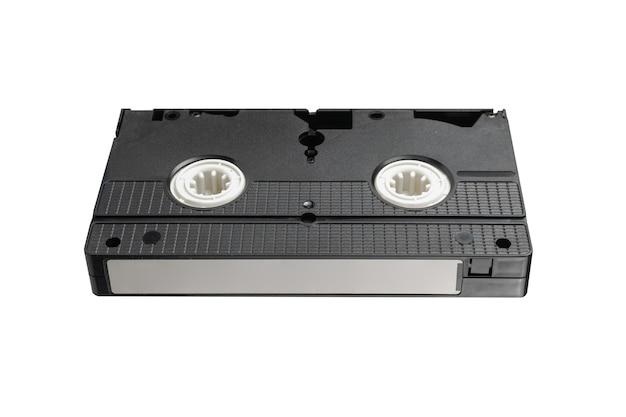 Cassette vidéo vhs isolé sur fond blanc