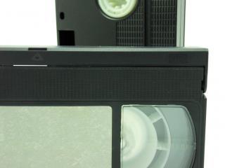 Cassettes vhs, blanc