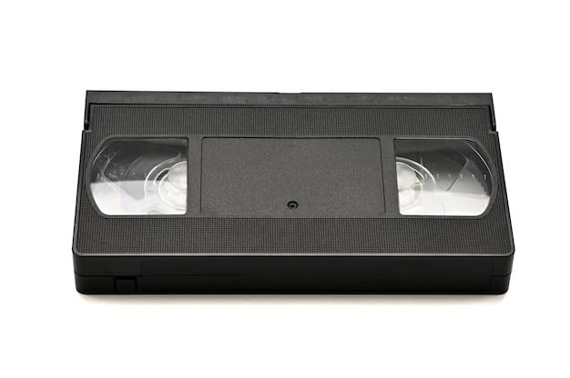 Cassettes vidéo à usage domestique isolated on white