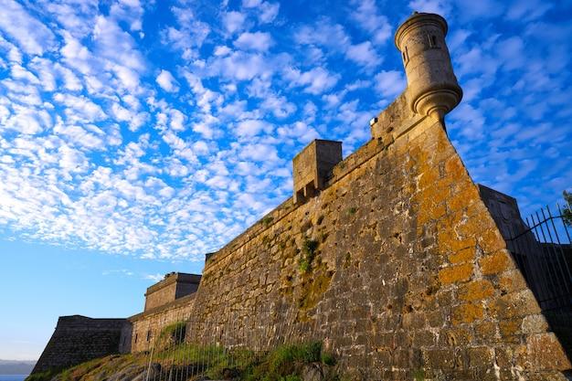 Castelo san anton à la corogne en galice espagne