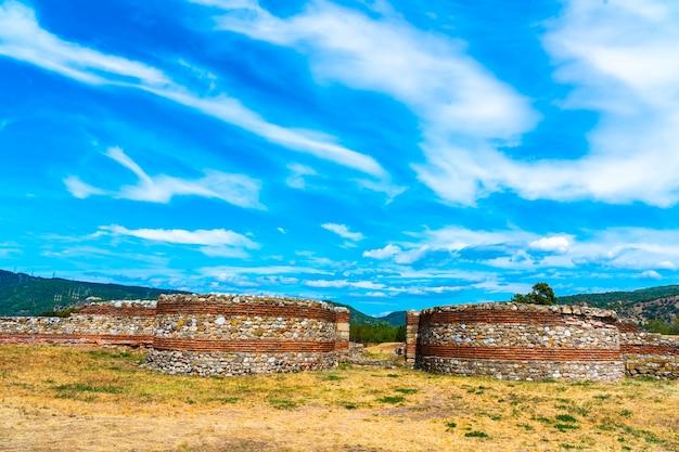Castrum romain diana fortress, construit en 101 après jc à kladovo, dans l'est de la serbie