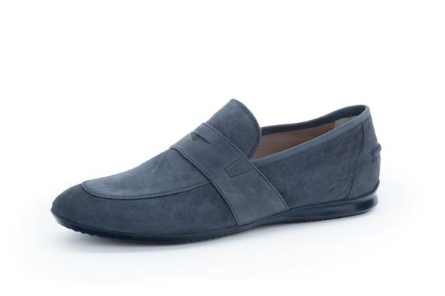Casual chaussures de cuir mâles isolés on white