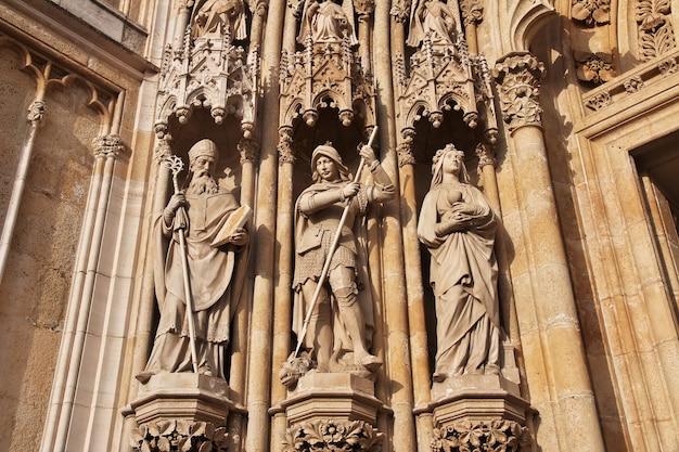 Cathédrale de l'assomption à zagreb de croatie