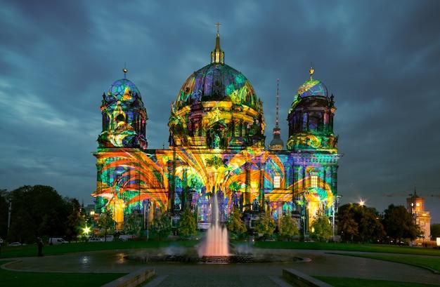 Cathédrale de berlin la nuit