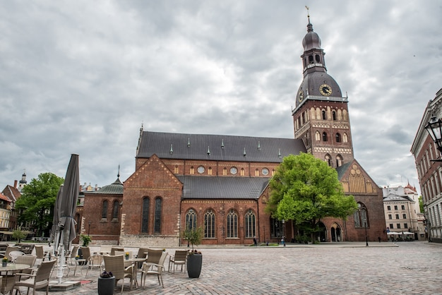 Cathédrale du dôme à riga, capitale de la lettonie