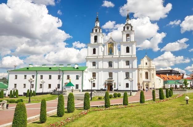 Cathédrale du saint-esprit à minsk. église orthodoxe principale de biélorussie