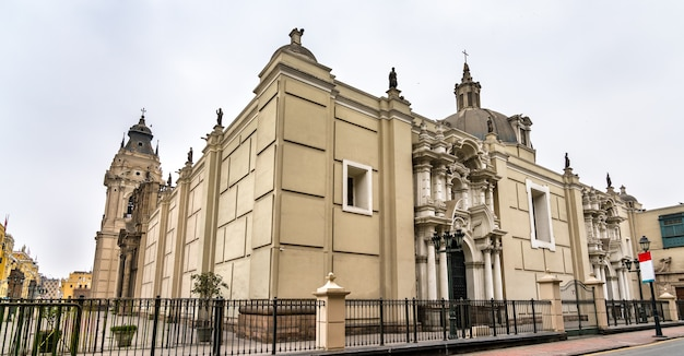La cathédrale de lima au pérou