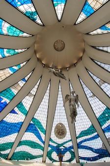 Cathédrale métropolitaine brasilia df brésil le 14 août 2008 par l'architecte oscar niemeyer