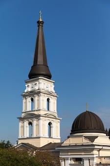 Cathédrale orthodoxe d'odessa de la transfiguration des sauveurs en ukraine, europe