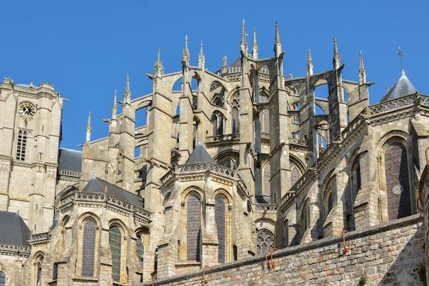 Cathédrale romane et gothique de saint julien au mans sarthe, pays de la loire, france