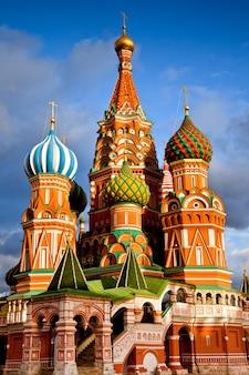 Cathédrale saint basile sur la place rouge, kremlin de moscou, russie