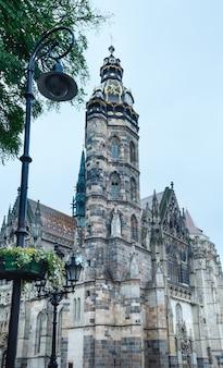 Cathédrale sainte-élisabeth (construite entre 1378 et 1508). kosice, slovaquie.