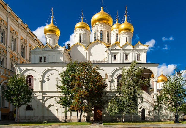 Cathédrales du kremlin. ville de moscou, russie