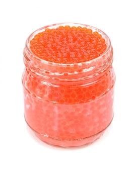 Caviar rouge dans un bocal en verre