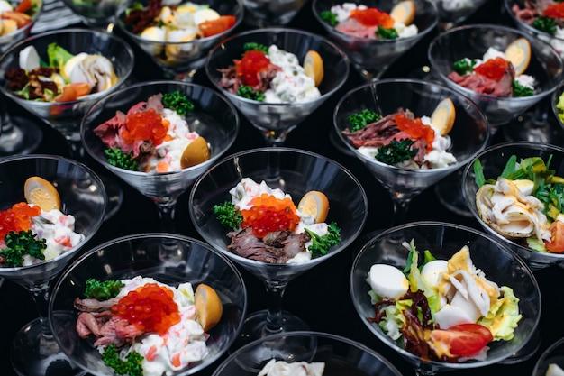 Caviar de saumon avec cuillère