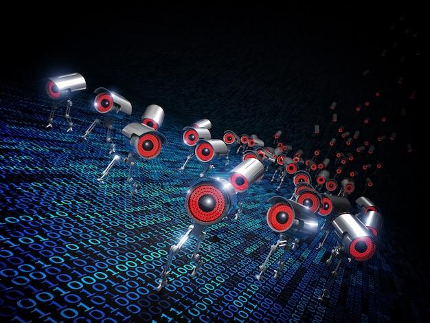 Cctv robot en cours d'exécution