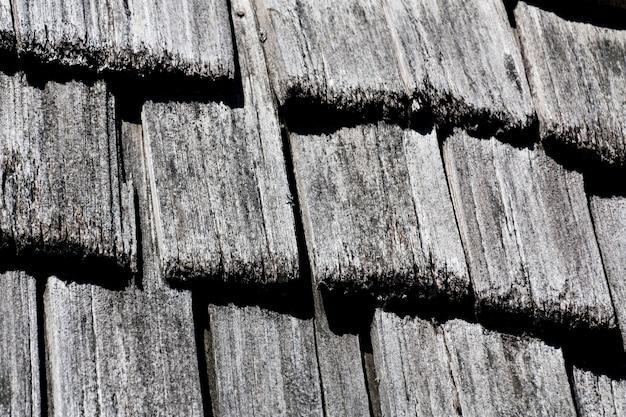 Cèdre shake shingle texture de fond noir et blanc