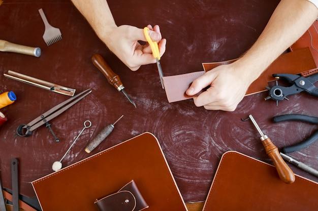 Ceinture en cuir de coupe