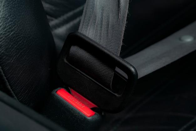 Ceinture de sécurité dans la voiture