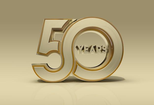 Célébration des 50 ans de rendu 3d - tracé de détourage créé par l'outil stylo inclus dans jpeg facile à composer.