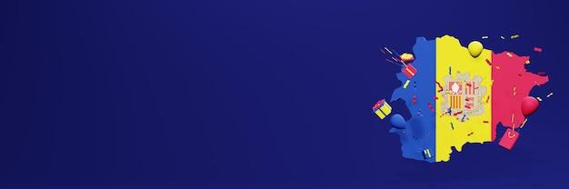 Célébration de la fête de l'indépendance d'andora pour les couvertures de sites web