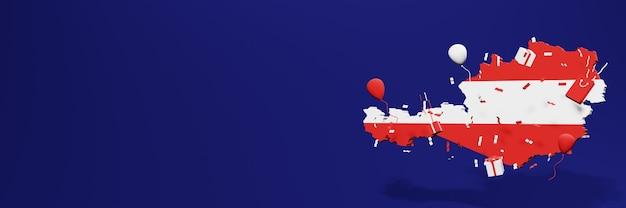 Célébration de la fête de l'indépendance de l'autriche pour les couvertures de sites web