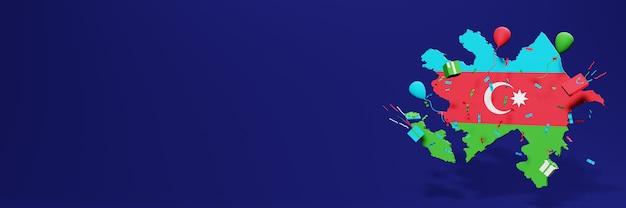 Célébration de la fête de l'indépendance de l'azerbaïdjan pour les couvertures de sites web