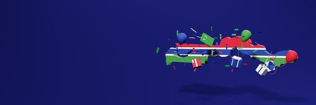 Célébration de la fête de l'indépendance en gambie pour les couvertures de sites web