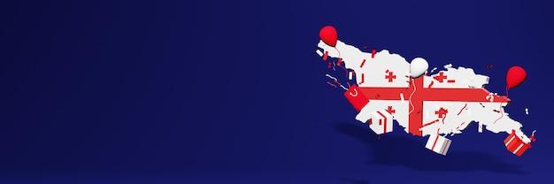 Célébration de la fête de l'indépendance de la géorgie pour les couvertures de sites web