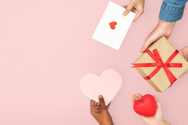 Célébration de la frontière des coeurs de la saint-valentin bricolage